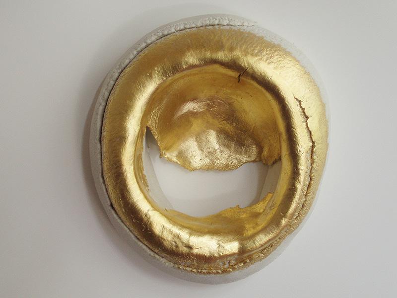 "2010 Porcelain, 23K Gold 7x6x2"""