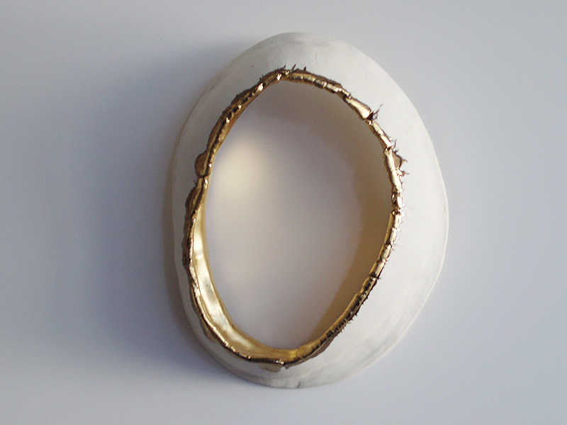 "2010 Porcelain, 23K Gold 7x5x2"""