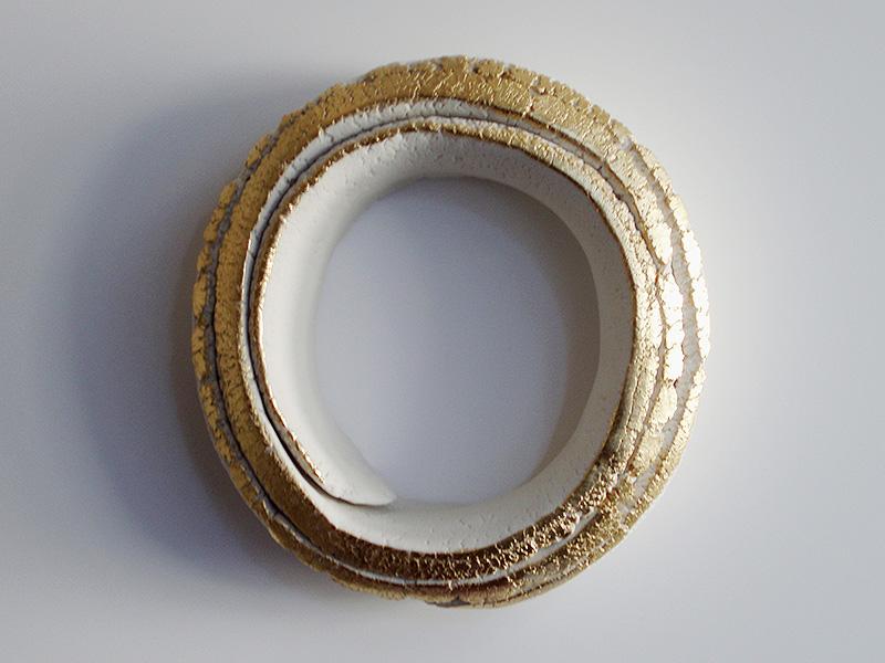"2010 Porcelain, 23K Gold 6x6x2"""