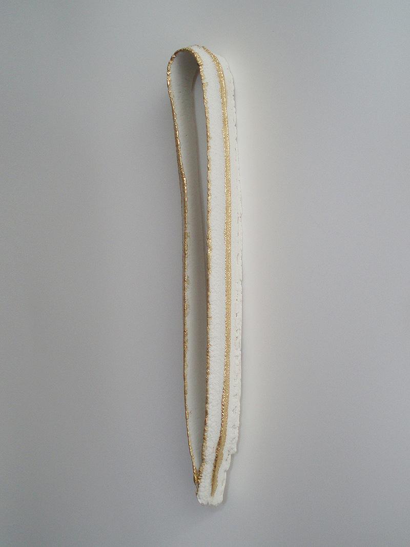 "2010 Porcelain, 23K Gold 12x2x1"""