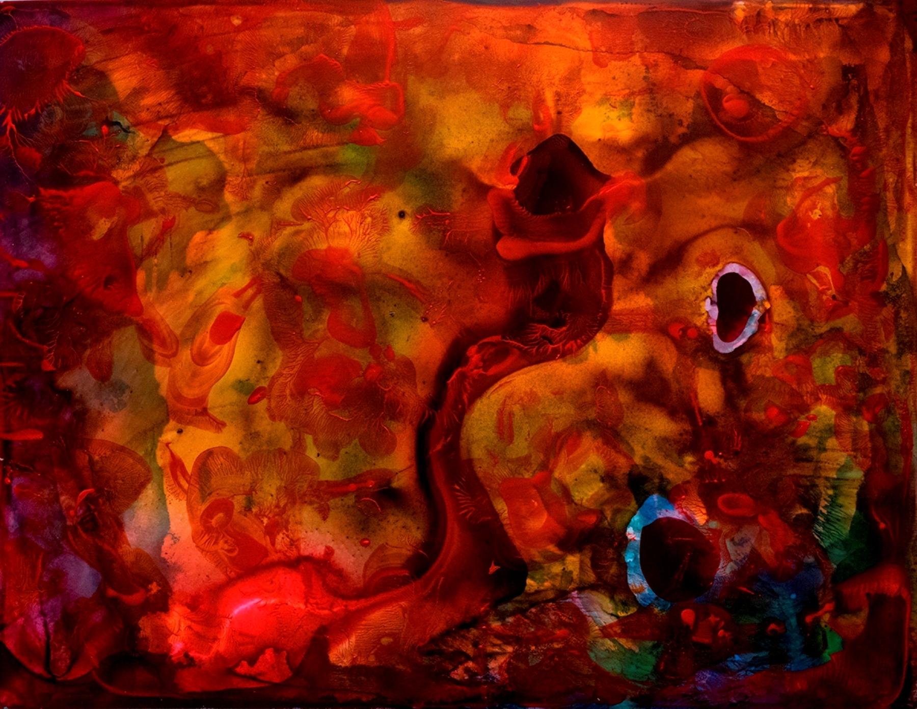 """2014 encaustic, acrylic on Yupo 20x26"""""""